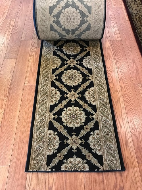 "Port Royal Midnight - 27"" Wide Custom Runner - 1 Million Point - $8.99/ft"