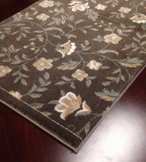 "Pisa 6674 Brown Carpet Hallway and Stair Runner - 30"" x 38 ft"