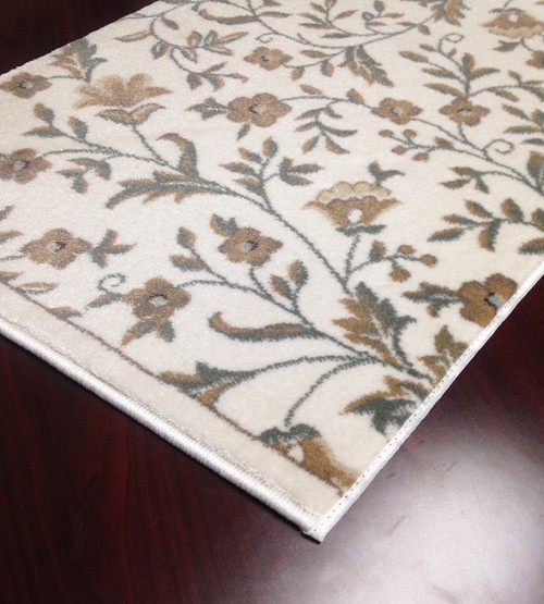 "Pisa 6674 Bone Carpet Hallway and Stair Runner - 30"" x 11 ft"