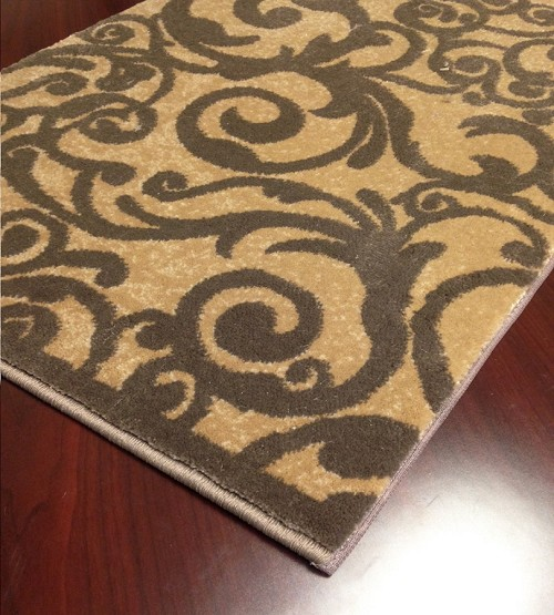 "Pisa 1845 Beige Carpet Hallway and Stair Runner - 30"" x 12 ft"