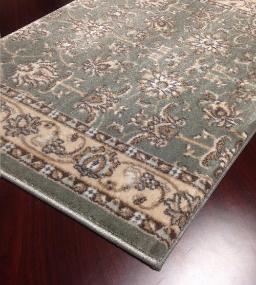"Pisa 1780 Light Green Carpet Hallway and Stair Runner - 30"" x 33 ft"
