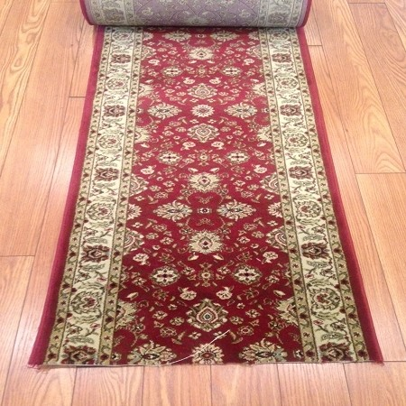 "Mythos Red - 26"" Wide Finished Runner - Price is Per Foot"