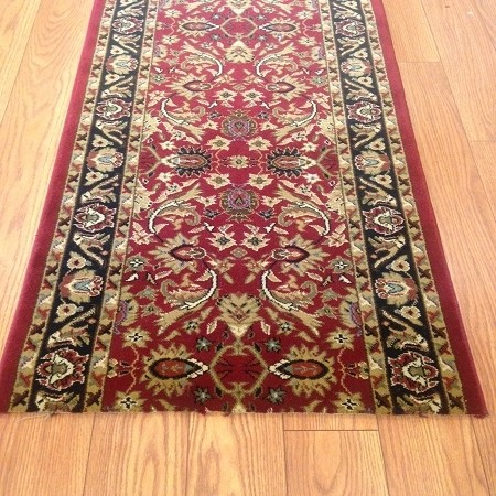 Providance Red - 26 Inch Wide Finished Runner - Price is Per Foot