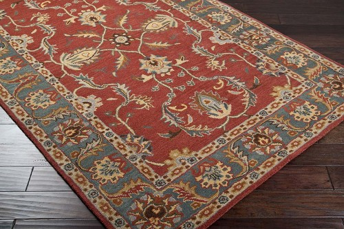 Caesar CAE-1007 Rust Red Kerry Blue Rug by Surya