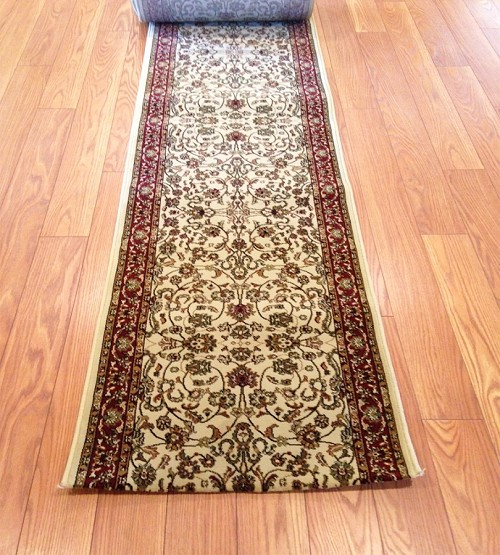 Tariq Ivory - 26 Inch Wide Finished Runner - Price is Per Foot