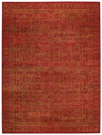 Red Tonal Trace Rug by Capel