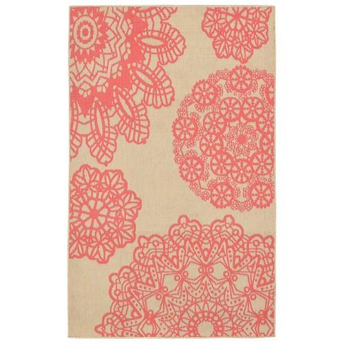 Transocean Liora Manne Terrace 102517 Crochet Coral Rug